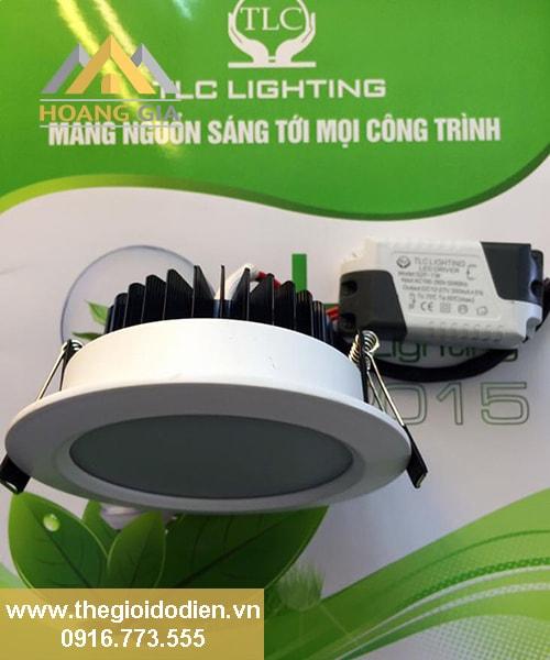 đèn led âm trần 3 màu 7w cao cấp tlc
