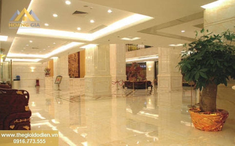 đèn led âm trần cho sảnh khách sạn