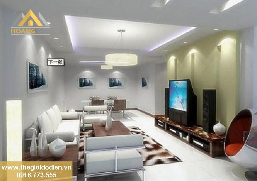 đèn led âm trần 3 màu cho phòng khách