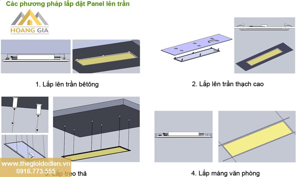 Hướng dẫn lắp đặt đèn led panel tấm