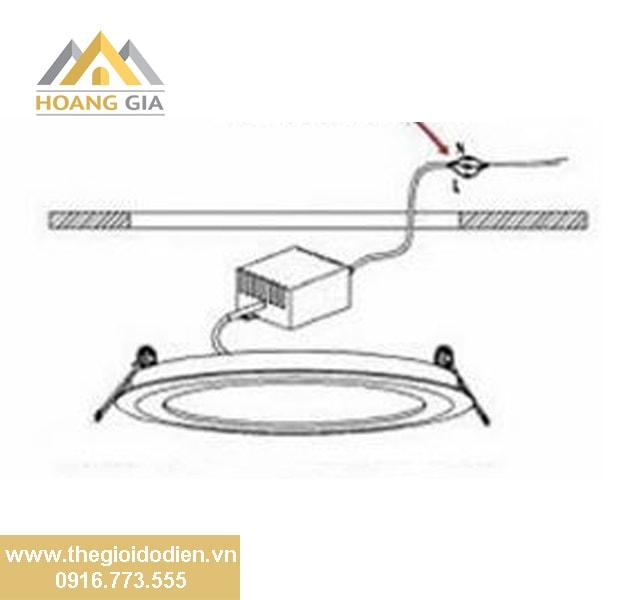 Hướng dẫn cách lắp đèn led âm trần siêu mỏng