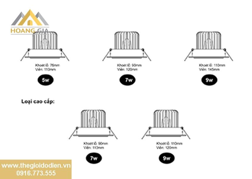 Hướng dẫn lắp đặt đèn led âm trần 3 màu chống chói đế dày