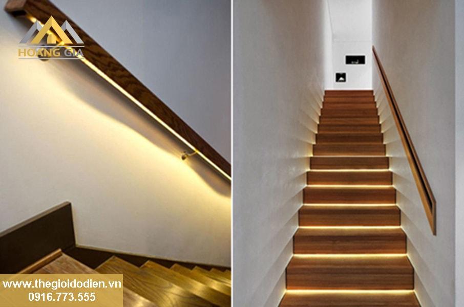 Lựa chọn đèn led chiếu sáng cầu thang