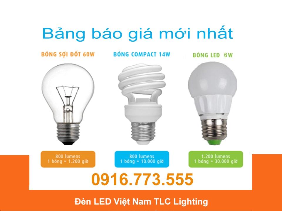 Bảng báo giá đèn led TLC