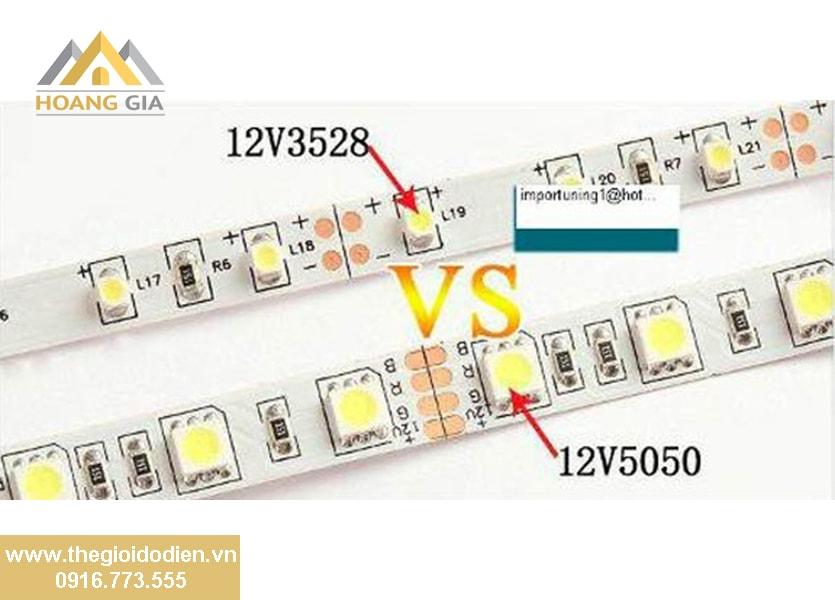 Những điểm khác biệt giữa đèn LED dây cao cấp 2835 và LED dây đổi màu 5050