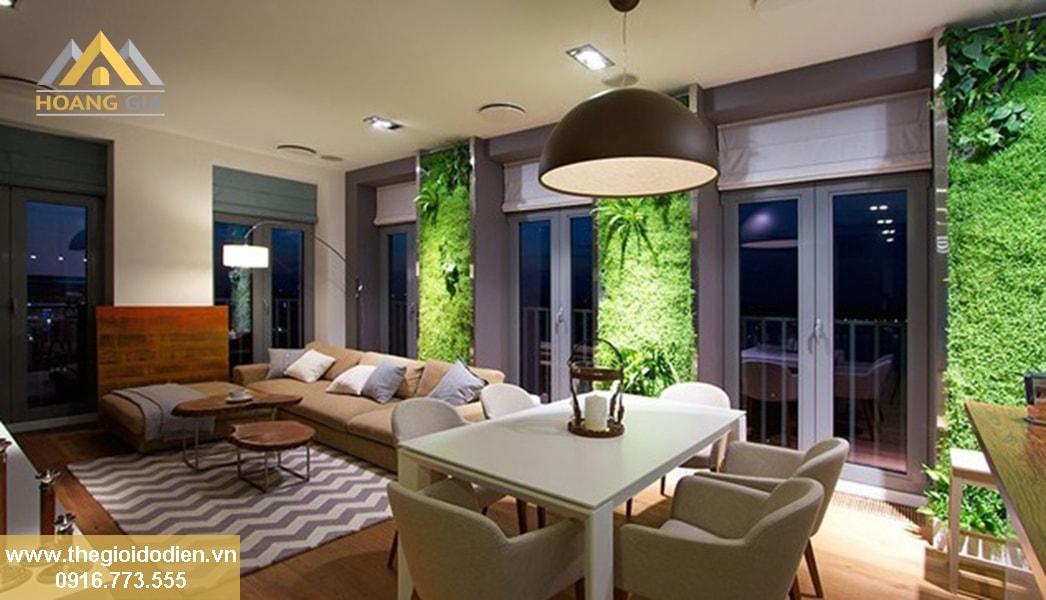 Chiếu sáng bằng đèn led âm trần để mang lại kiến trúc xanh cho nhà ở