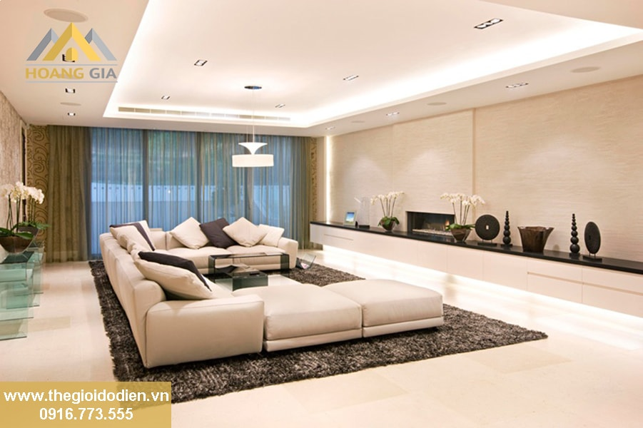 Thiết kế không gian sống tinh tế với đèn led âm trần siêu sáng