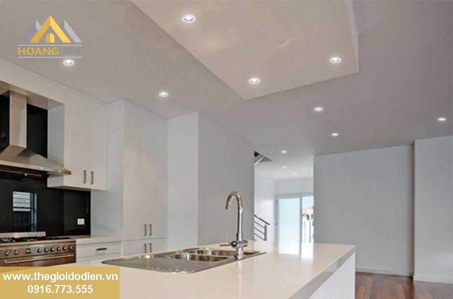 Sự kết hợp tuyệt vời giữa đèn led âm trần với các phòng trong ngôi nhà có trần thạch cao