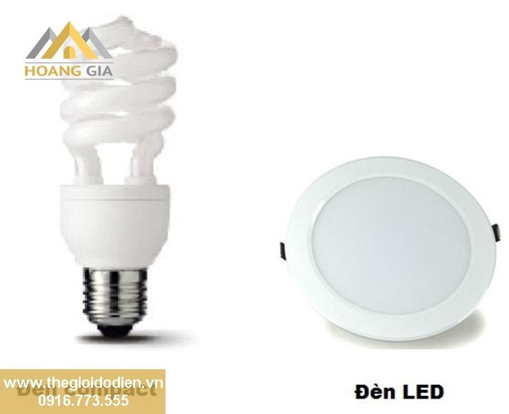 Sử dụng đèn âm trần hay đèn compact chiếu sáng tốt hơn ?
