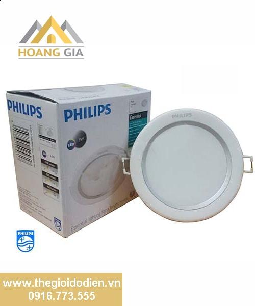 Đèn led âm trần Silver Philips 80081 5w