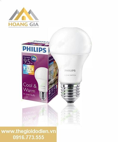 Đèn búp led Scene Switch Philips 9.5W
