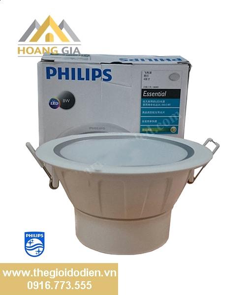 Đèn led âm trần Silver Philips 80083 8w