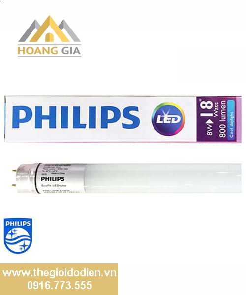 Đèn tuýp EcoFit LED tube 0.6m Philips 8w
