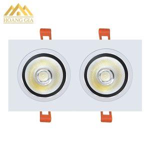 Đèn led âm trần đôi 2 bóng COB 20w