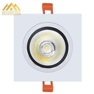 Đèn led âm trần vuông 1 bóng COB 10w