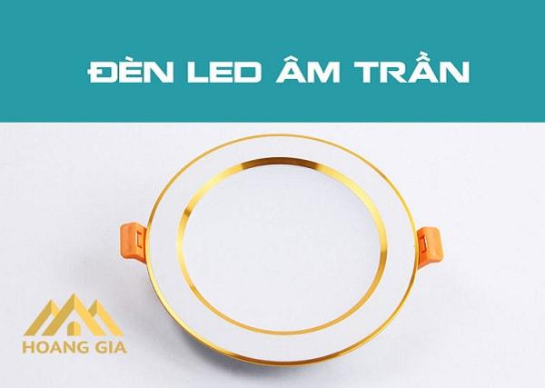 Tìm hiểu về loại đèn Led âm trần viền vàng