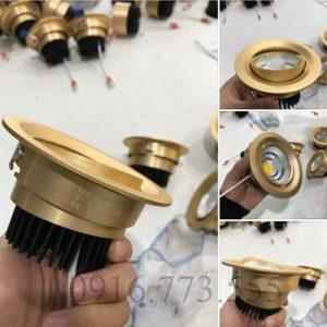 Đèn led âm trần đơn tròn mặt vàng 7w Chip LED COB