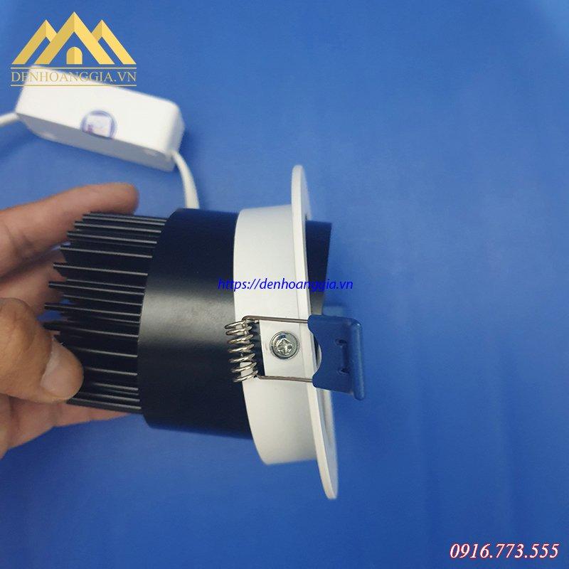 Đế tản nhiệt của đèn led âm trần COB 7w đơn tròn