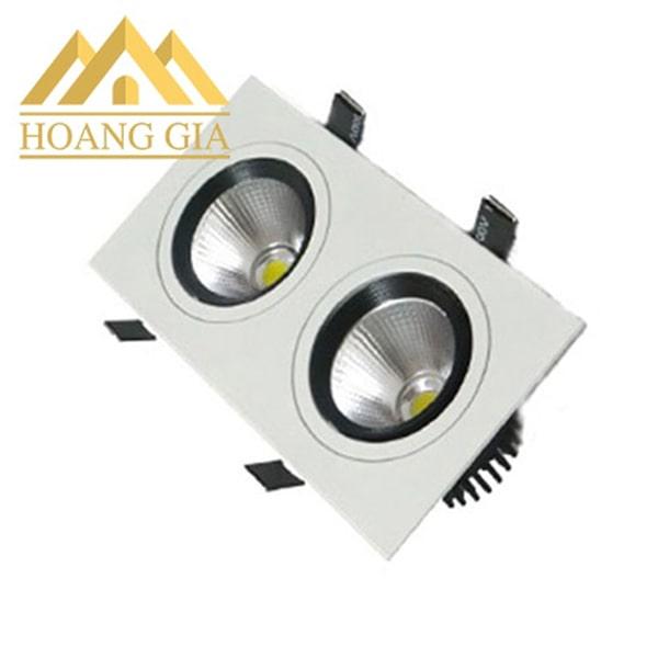 Giá đèn led spotlight downlight âm trần đôi chiếu điểm