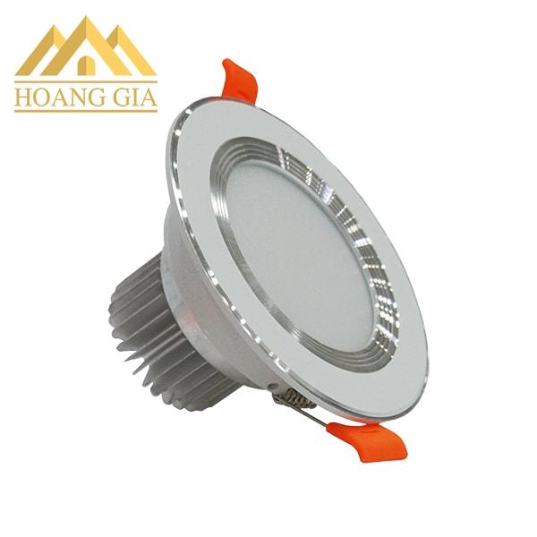 Giá đèn led âm trần đế dày viền trắng