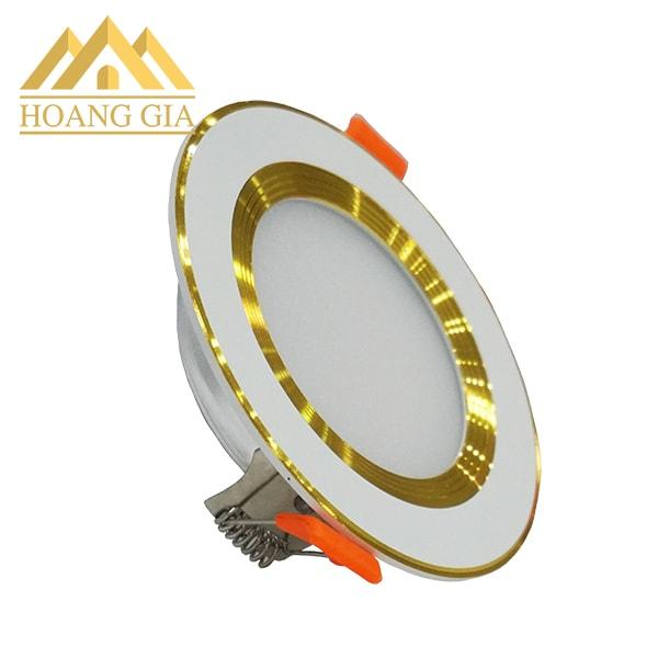 Giá đèn led âm trần đế mỏng viền vàng