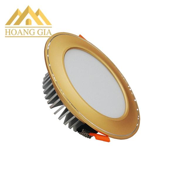 Giá đèn led âm trần mặt cong viền vàng