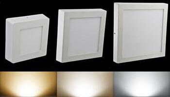 đèn led ốp trần đổi màu 3 chế độ hình vuông