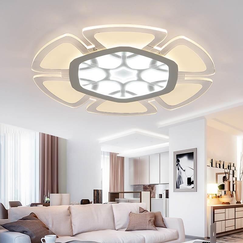 đèn ốp trần trang trí phòng khách hiện đại