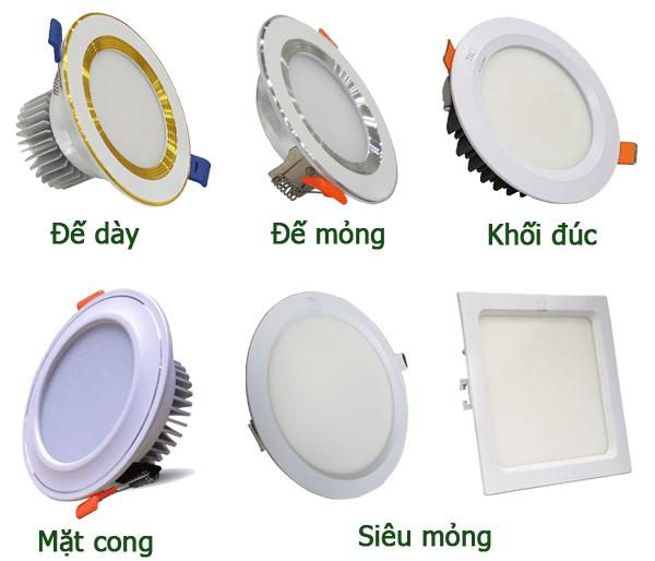 Các loại đèn downlight