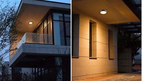 đèn led ốp trần tại bạn công, cầu thang, hành lang