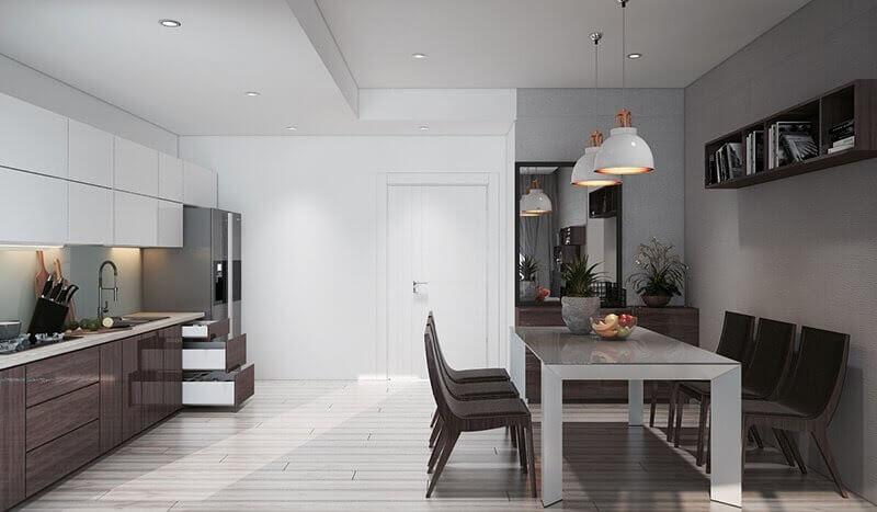 đèn ốp trần trang trí phòng bếp ấn tượng 2