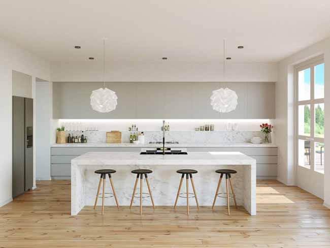 đèn ốp trần trang trí phòng bếp ấn tượng 3