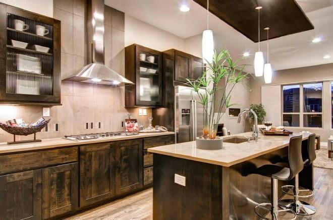 đèn ốp trần trang trí phòng bếp ấn tượng 4