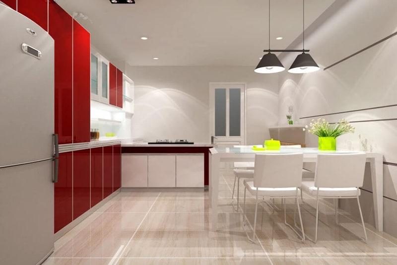 đèn ốp trần trang trí phòng bếp ấn tượng 8