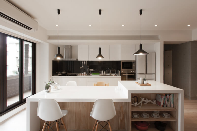 Cách bố trí đèn trần thạch cao tại phòng bếp