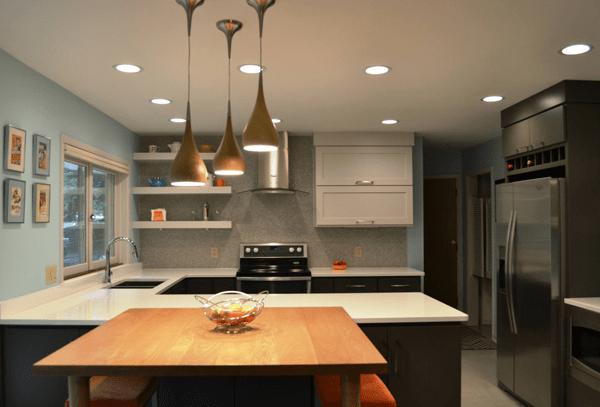 Đèn led ốp trần phòng bếp lãng mạn