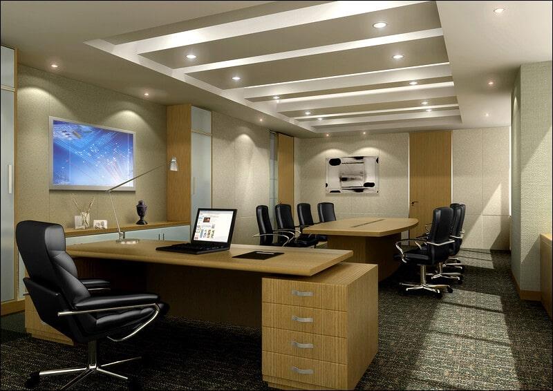Ứng dụng đèn led âm trần văn phòng làm việc