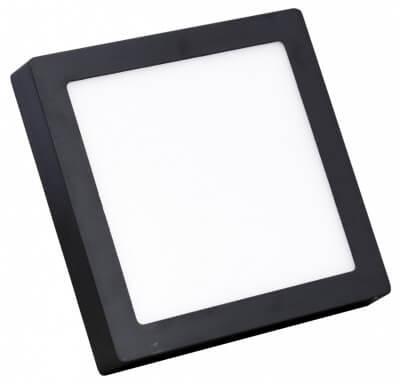 Đèn led ốp trần vuông màu đen
