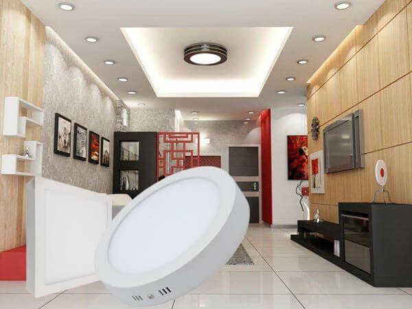 Đèn led ốp trần phòng khách hình tròn