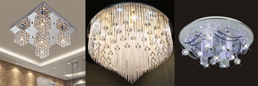 Đèn ốp trần phòng ngủ pha lê siêu đẹp