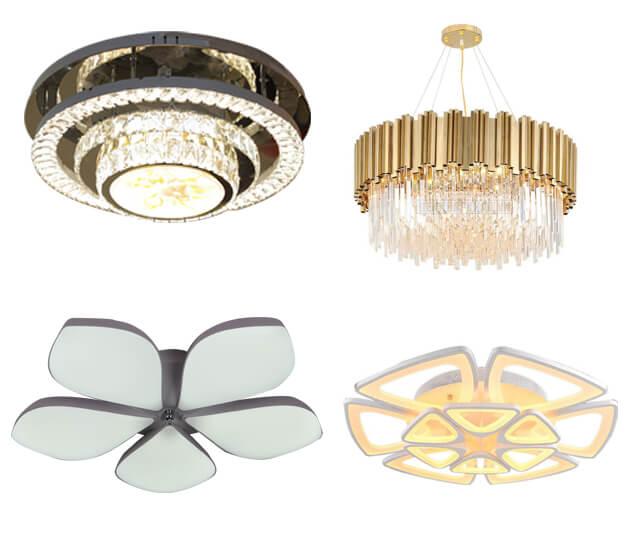 Các mẫu đèn áp trần hiện đại