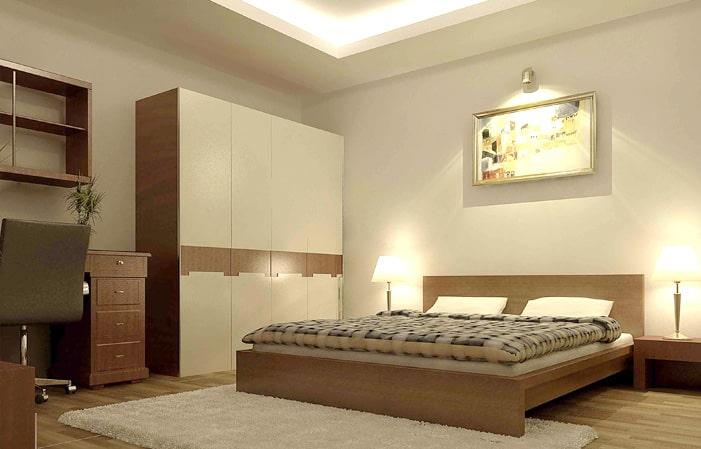 Ánh sáng vàng thích hợp nhất dành cho phòng ngủ