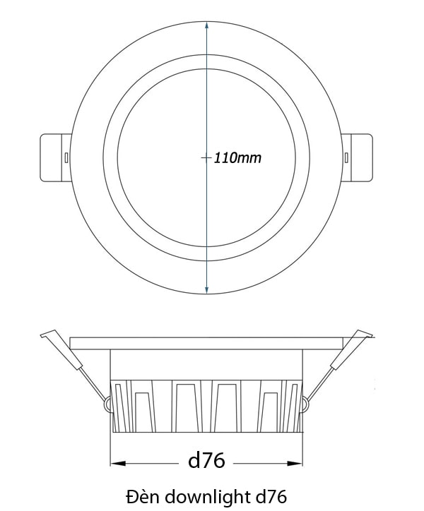 đèn downlight d76