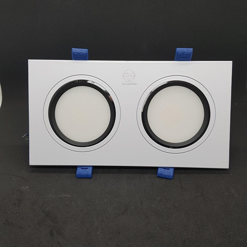 đèn led âm trần 14w kính tán quang