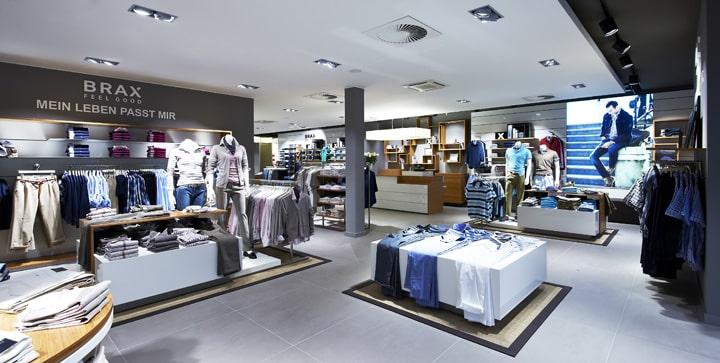 Đèn dowlight đôi ứng dụng trong shop thời trang