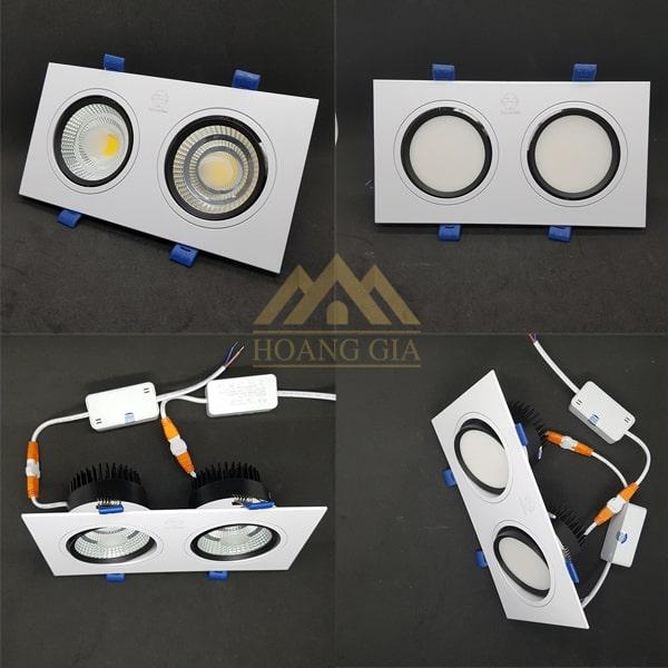 Các loại đèn downlight đôi