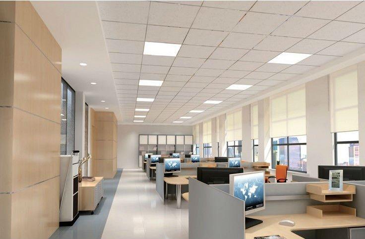 Văn phòng lắp đèn led Panel cho trần thạch cao tấm 600x600