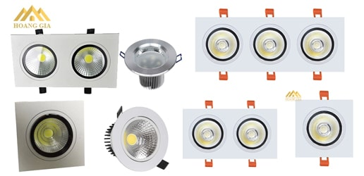 Các loại đèn led âm trần chiếu rọi