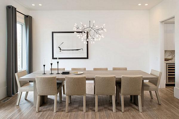 Điều chỉnh cường độ sáng đèn thả bàn ăn ở mức cao nhất