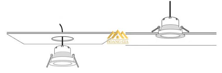 Cách lắp đặt đèn led âm trần theo cấu tạo
